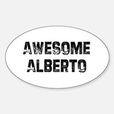 Awesome Alberto Oval Decal
