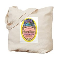 Vintage Perfume Label Tote Bag
