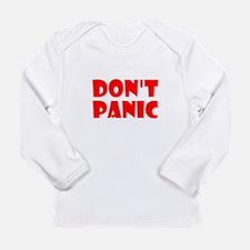 Dont Panic Hitchhikikers Long Sleeve T-Shirt