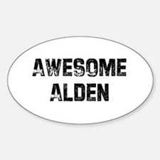Awesome Alden Oval Decal