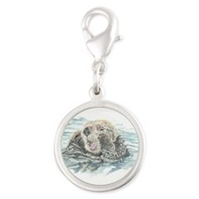 Cute Watercolor Otter Animal Charms