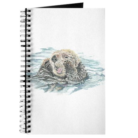 Cute Watercolor Otter Animal Journal