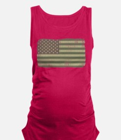 Camo American Flag [Vintage] Maternity Tank Top