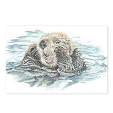 Cute Watercolor Otter Animal Postcards (Package of