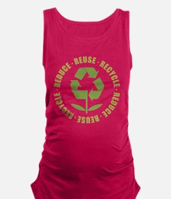 Reduce Reuse Recycle Maternity Tank Top