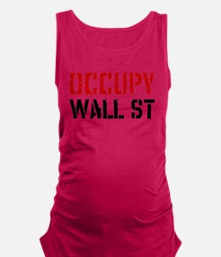 Occupy Wall St Maternity Tank Top