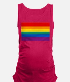 Rainbow Flag Maternity Tank Top