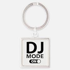 DJ Mode On Square Keychain