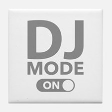 DJ Mode On Tile Coaster