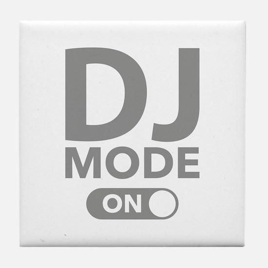 DJ Mode On Tile Coaster