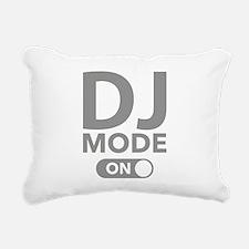 DJ Mode On Rectangular Canvas Pillow