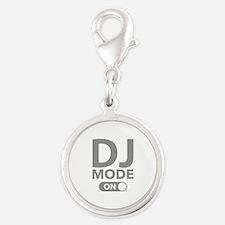 DJ Mode On Silver Round Charm