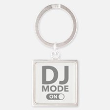 DJ Mode On Square Keychain