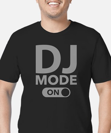 DJ Mode On Men's Fitted T-Shirt (dark)