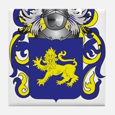 Broom Coat of Arms Tile Coaster