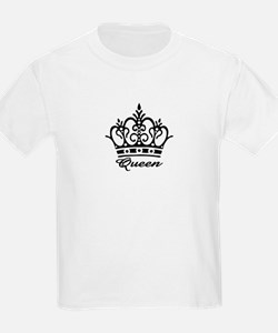 Queen Black Crown Kids T-Shirt