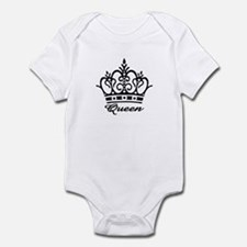 Queen Black Crown Infant Bodysuit