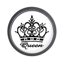 Queen Black Crown Wall Clock
