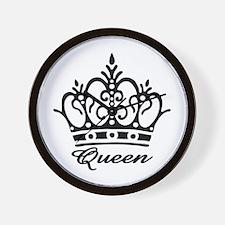 Queen Black Crown Wall Clock