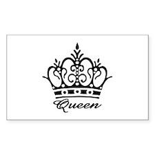Queen Black Crown Rectangle Decal