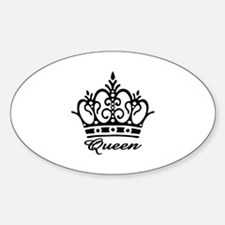 Queen Black Crown Oval Decal