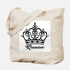 Queen Black Crown Tote Bag