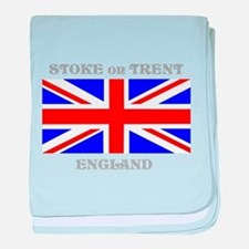 Stoke on Trent England baby blanket