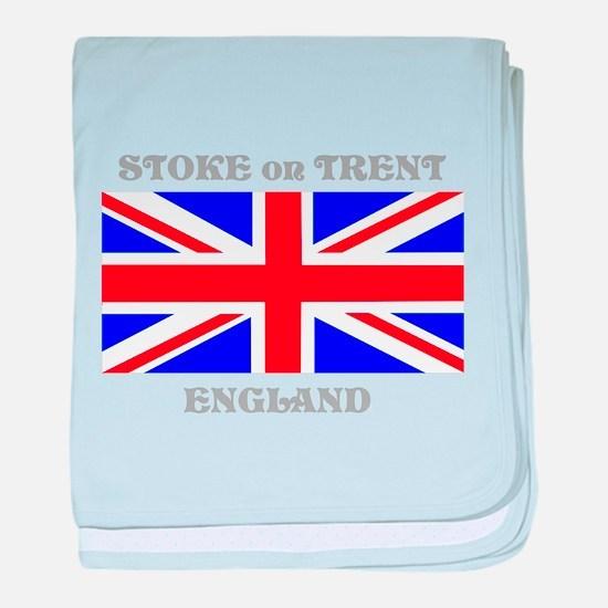 Stoke on Trent England baby blanket