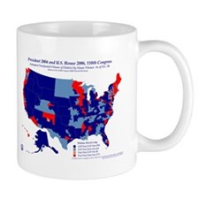 President by CD by Party 110th Congress Mug-Blue