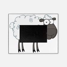 cute white sheep with black face Picture Frame