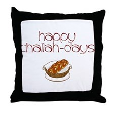 Happy Challah-Days Throw Pillow