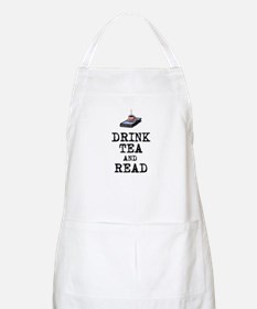 Drink Tea and Read Apron