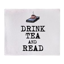 Drink Tea and Read Throw Blanket