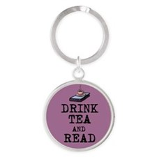 Drink Tea and Read Keychains