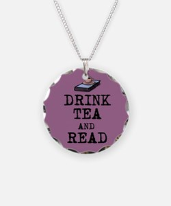 Drink Tea and Read Necklace