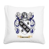 Brown coat of arms Throw Pillows