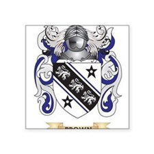 Brown Coat of Arms Sticker
