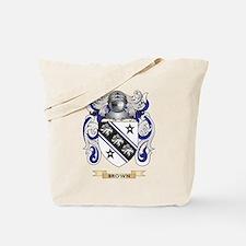 Brown Coat of Arms Tote Bag