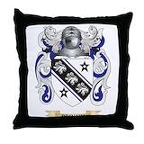 Brown coat of arms Throw Pillows