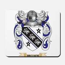 Brown Coat of Arms Mousepad