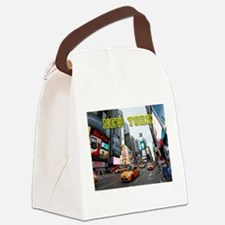 New York Times Square Pro Photo Canvas Lunch Bag