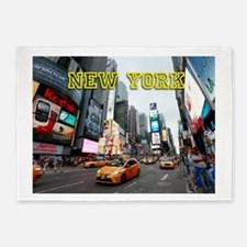 New York Times Square Pro Photo 5'x7'Area Rug
