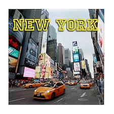 New York Times Square Pro Photo Tile Coaster