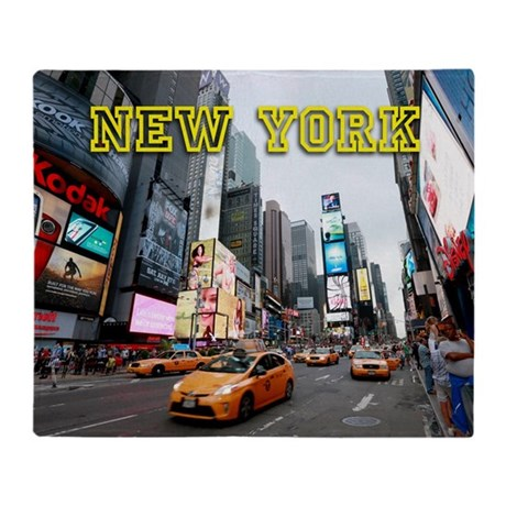 New York Times Square Pro Photo Throw Blanket