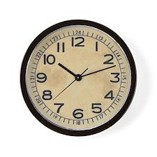 Vintage Dieselpunk Military Wall Clock