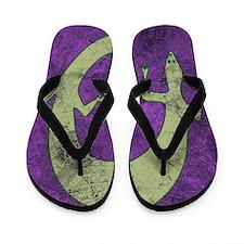 Salamander on Purple Flip Flops