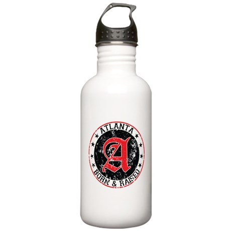 Atlanta born raised black Water Bottle