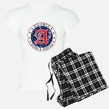 Atlanta born raised blue Pajamas