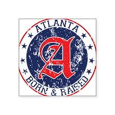 Atlanta born raised blue Sticker