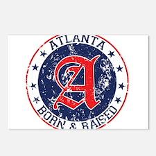 Atlanta born raised blue Postcards (Package of 8)